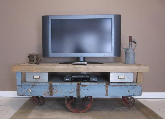 Industrial Factory Cart Coffee Table By Finenestfurnishings 535 00 Factory Cart Cart Coffee Table Custom Furniture
