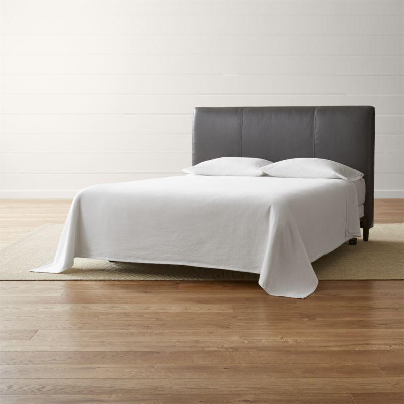 Lowe Smoke Grey Leather Headboards Leather Headboard Upholstered Headboard Leather Bed