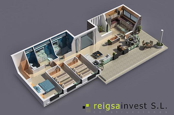 plano 3d de casa de una sola planta planos de casas