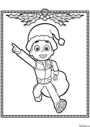 Раскраска Райдер на Рождество | Christmas coloring pages ...