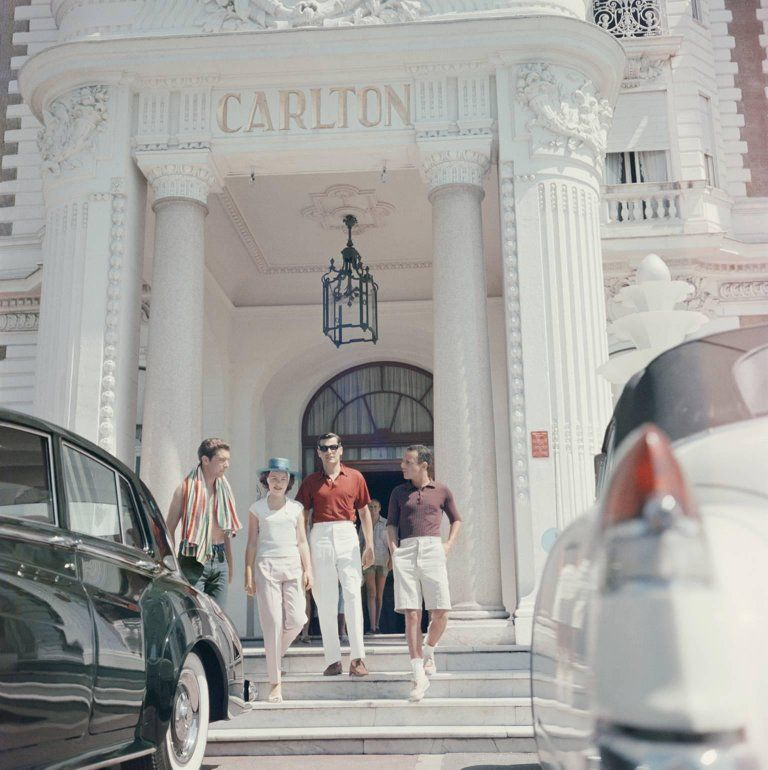 Slim Aarons Staying At The Carlton Cannes Slim Aarons C Type Print Open Edition Slim Aarons Carlton Hotel Slim Aarons Photography