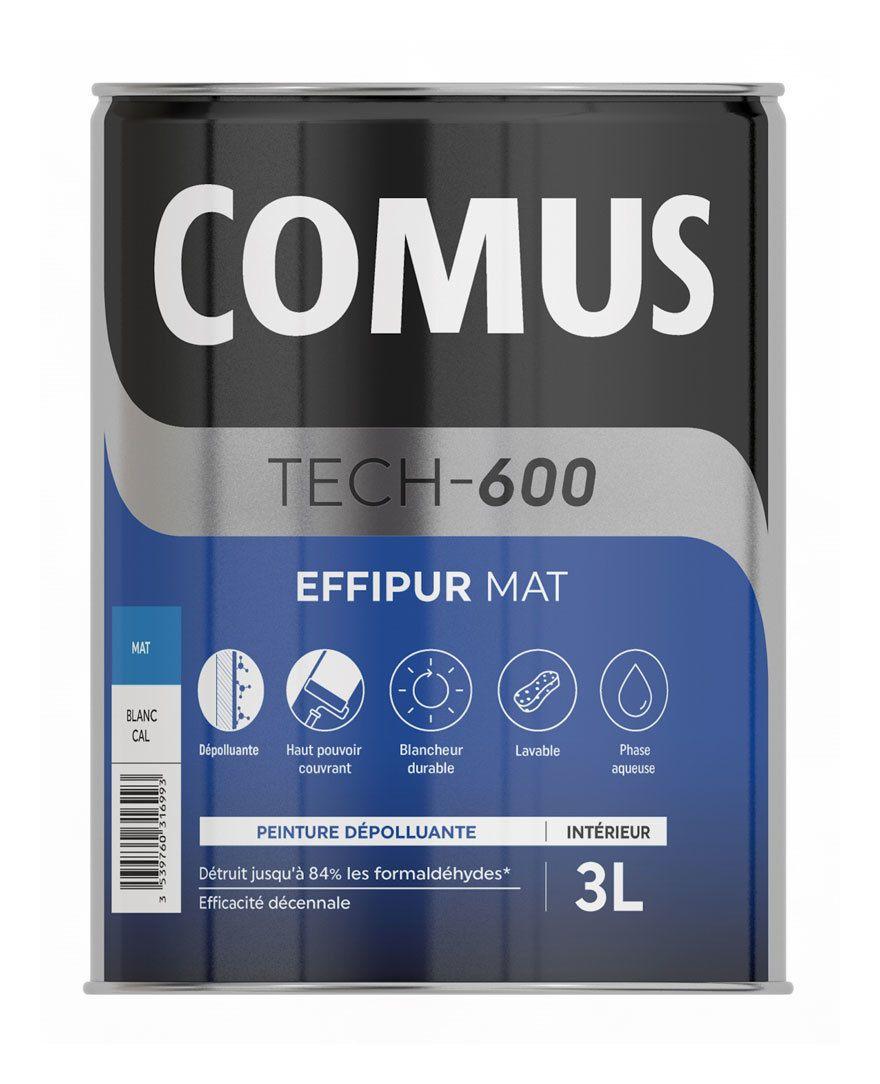 Comus Effipur Mat Ral 9016 Blanc Signalisation 3l