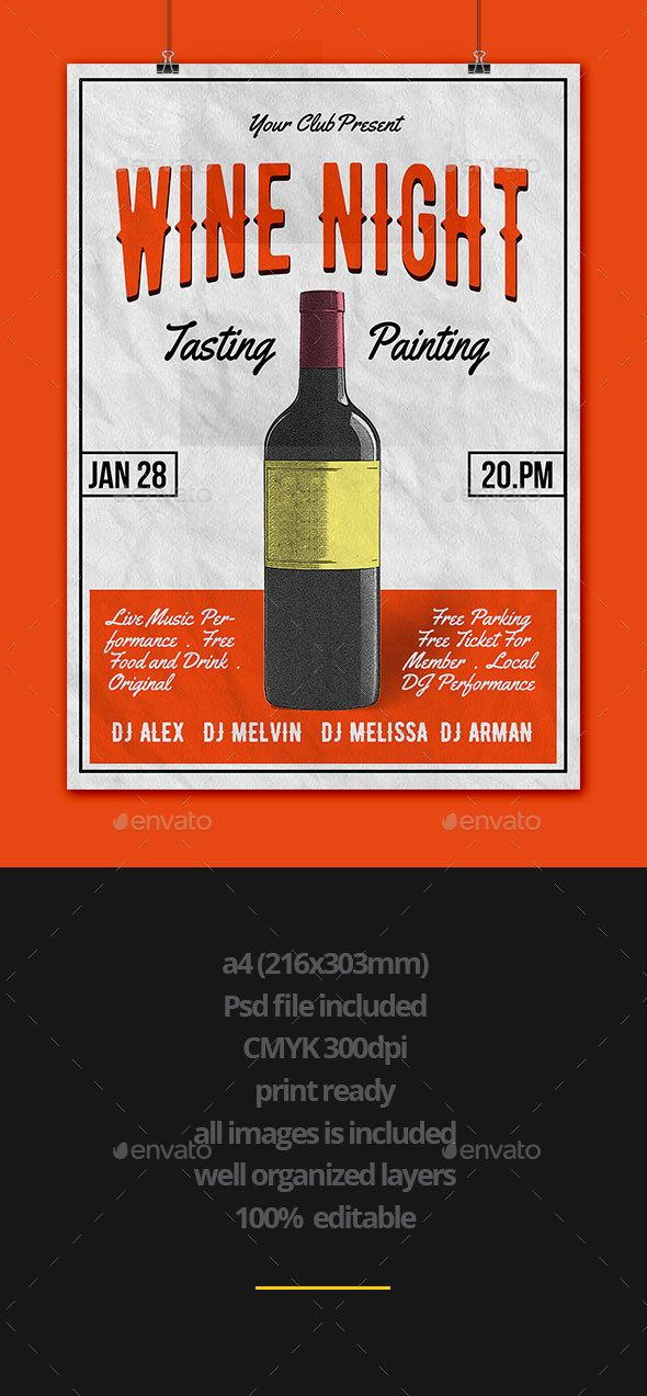 Wine Flyer Flyer Template Fonts And Event Flyers