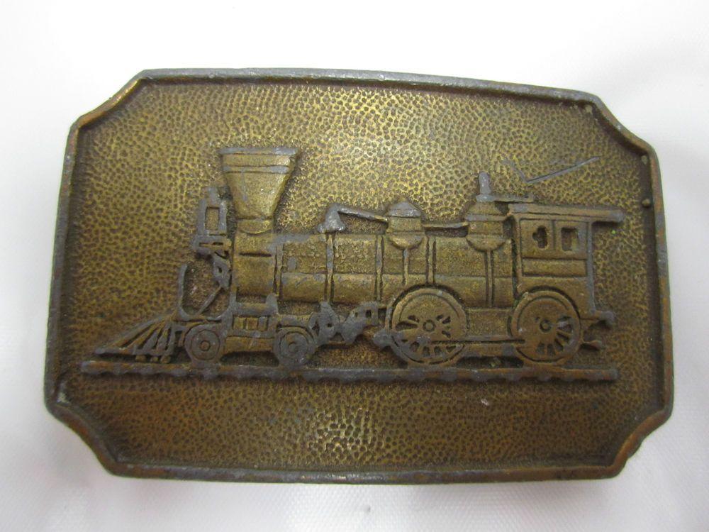 1970s train belt buckle