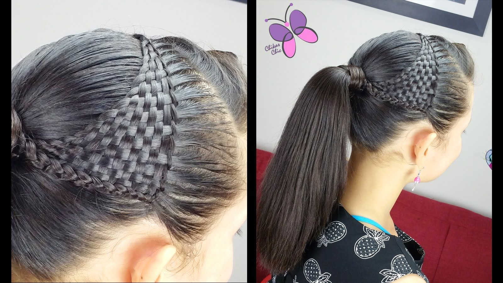 Basket woven ponytail basket wave cute girly hairstyles