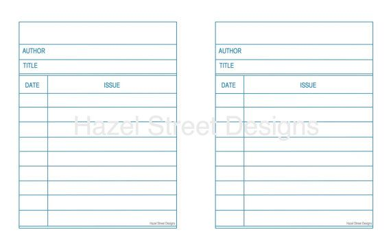 Library Card Template- I want to download this and then type in - library card template