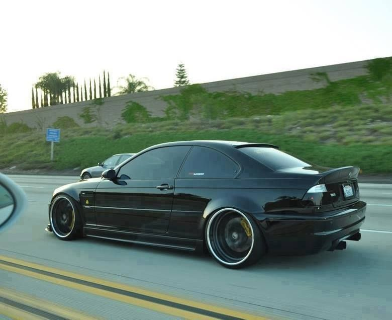 Bmw E46 M3 Black With Images Bmw E46 Coupe