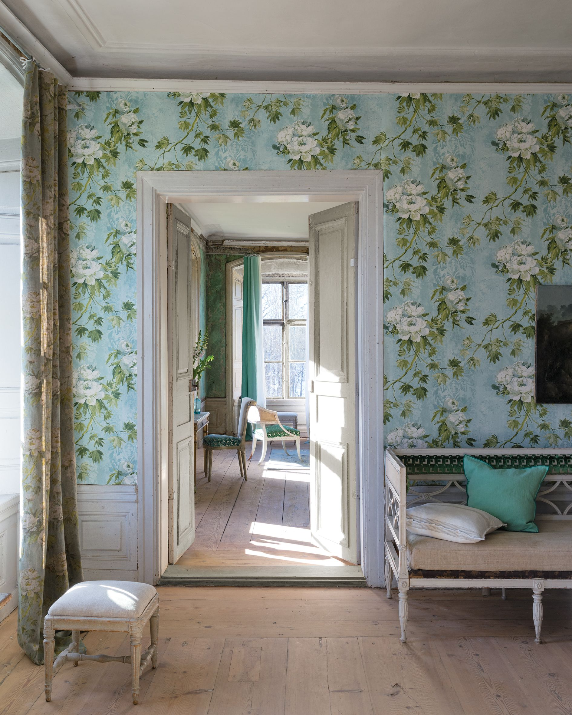 Designers guild floreale wallpaper decoracion - Designers guild telas ...