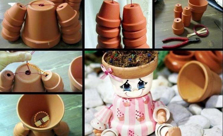Gartendeko Aus Tontöpfen Basteln Ideen Für Tontopffiguren