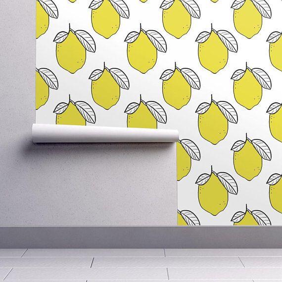 Lemons Wallpaper Modern Lemons By Tarareed Yellow