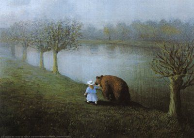 Walk with your fears.  Artist Michael Sowa.