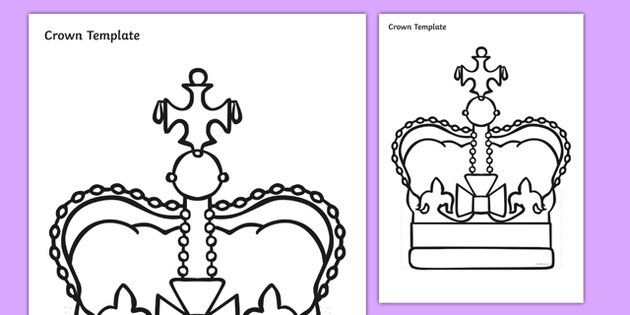 Crown Template Activity Sheet  Eyfs    Crown Template