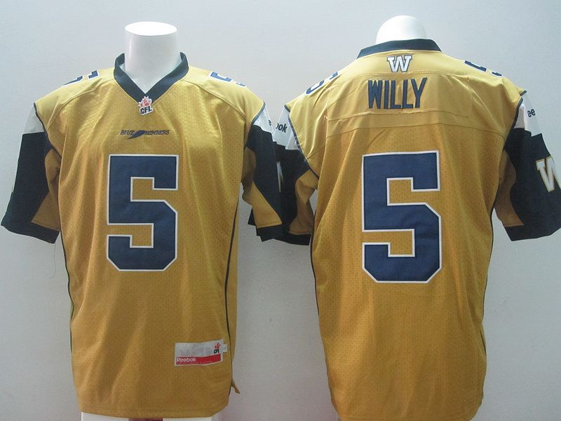 separation shoes 09c2a 790f0 CFL Winnipeg Blue Bombers #5 Drew Willy Yellow Jersey ...