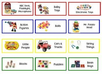 Lables For Preschool Toy Shelves Free Printables
