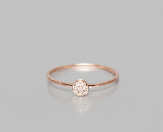 Modele de bague en or rose