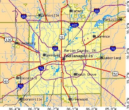 Map of marion indiana