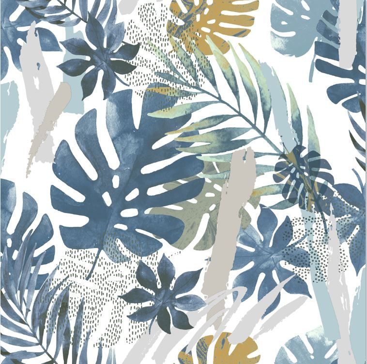 Papier Peint Vinyle Sur Intissé Wonderland Bleu Papiers