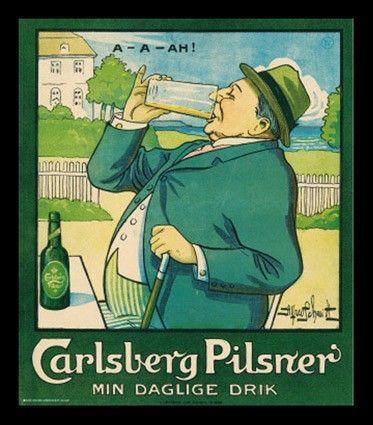 Carlsberg Pilsner Vintage Plakater Trykte Reklamer Retro