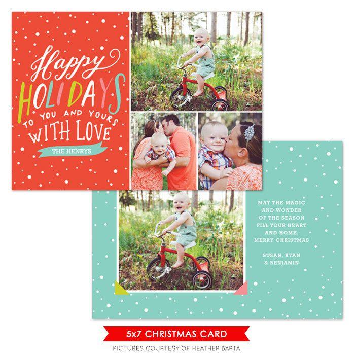 Christmas Photocard Template Trendy Holidays Photoshop templates