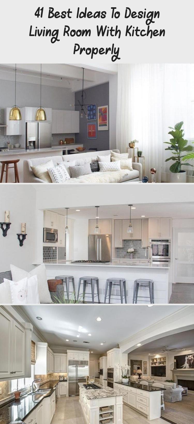 Pin En Open Concept Kitchen Living Room