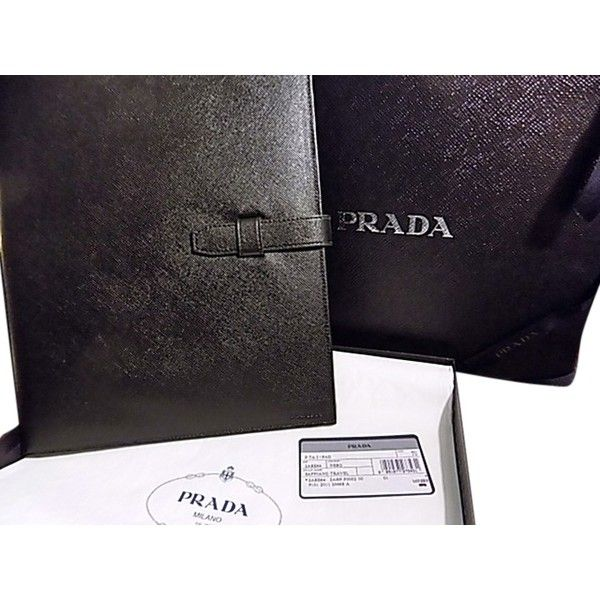 38798204dce4 Pre-owned Nib Prada Ipad Case Cover In Saffiano Leather (545 BRL) ❤ liked  on Polyvore featuring accessories