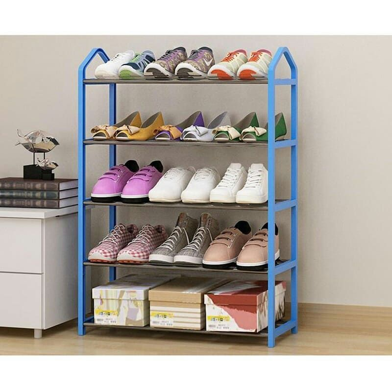 Rak Sepatu Minimalis Ready Hitam Coklat Biru Pink Rak Sepatu