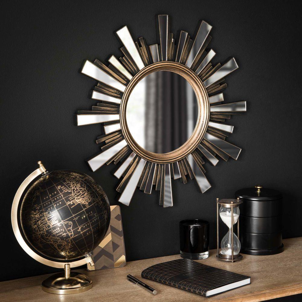 globe terrestre noir et dor maisons du monde 21 99 d co d 39 int rieur conseils. Black Bedroom Furniture Sets. Home Design Ideas