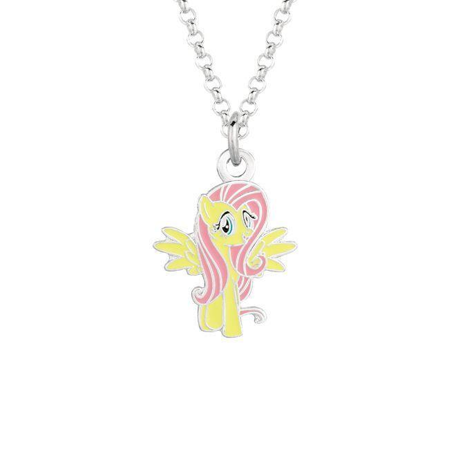 Fine silver plated fluttershy my little pony pendant necklace arte fine silver plated fluttershy my little pony pendant necklace aloadofball Gallery