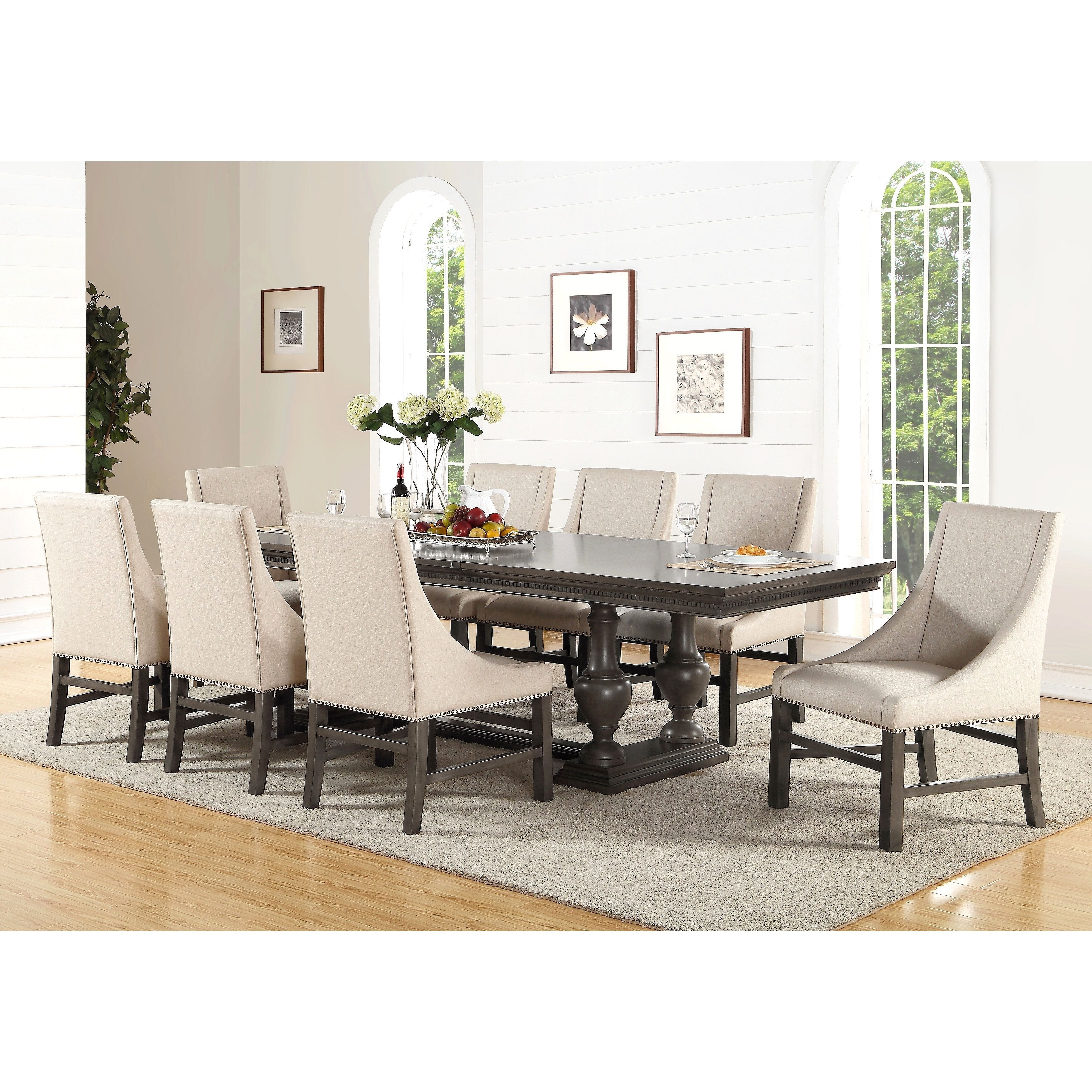 Abbyson Living Marseilles City Grey 9 Piece Dining Set (Marseilles), Size 9 Piece  Sets