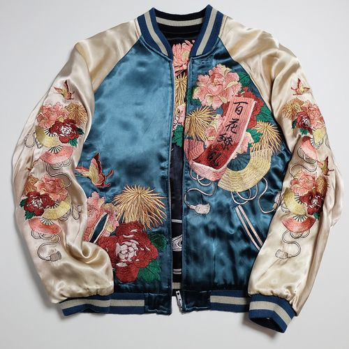 Japanese Mens Dragon Baseball Sukajan flight Jackets Bomber Coats embroidery SZ