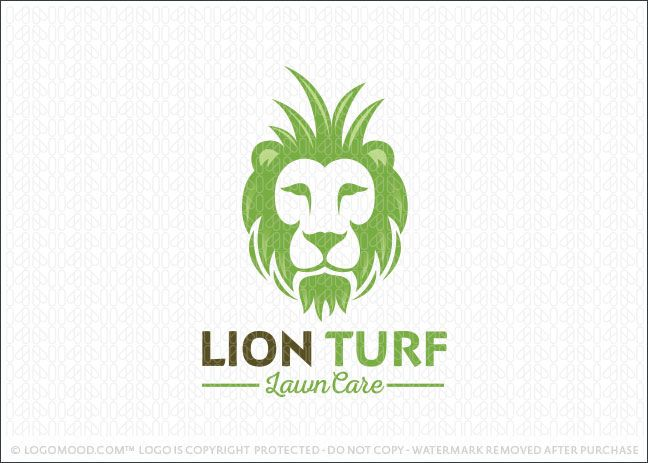 Lion Turf Lawn Care Service Logo Moodboard
