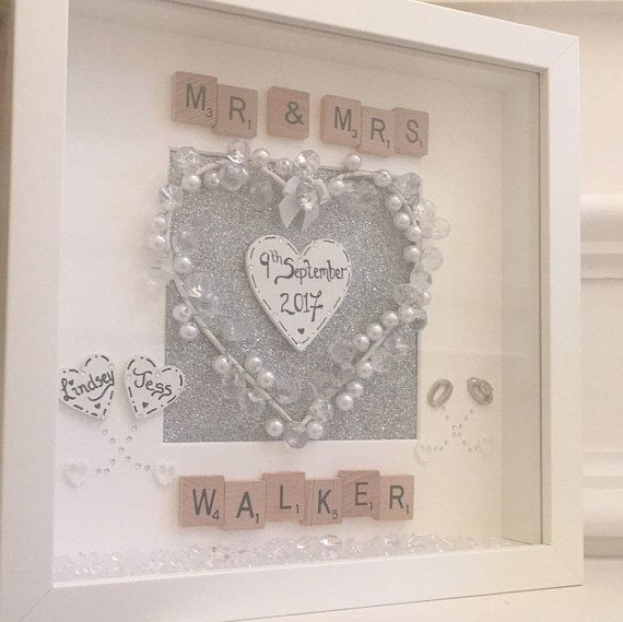 Personalised Wedding Gift Frame Mr And Mrs Frame Wedding Gifts 3d
