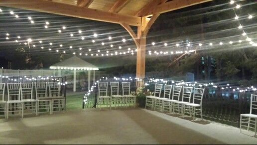 Outdoor Lighting In Layton Utah At Florentine Gardens Reception Center Weddingsbytrish Florentinegardensutah