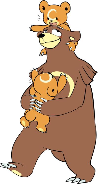 "i drew a daddy ursaring"", | Bears | Pinterest | Pokemon ..."