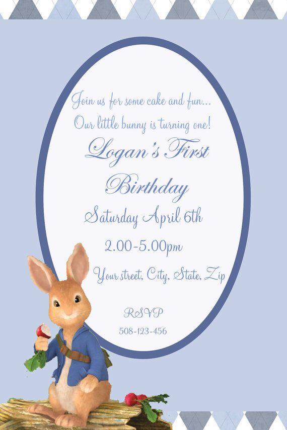 peter rabbit nick jr show digital birthday by sandinmyshoesdesigns, Birthday invitations