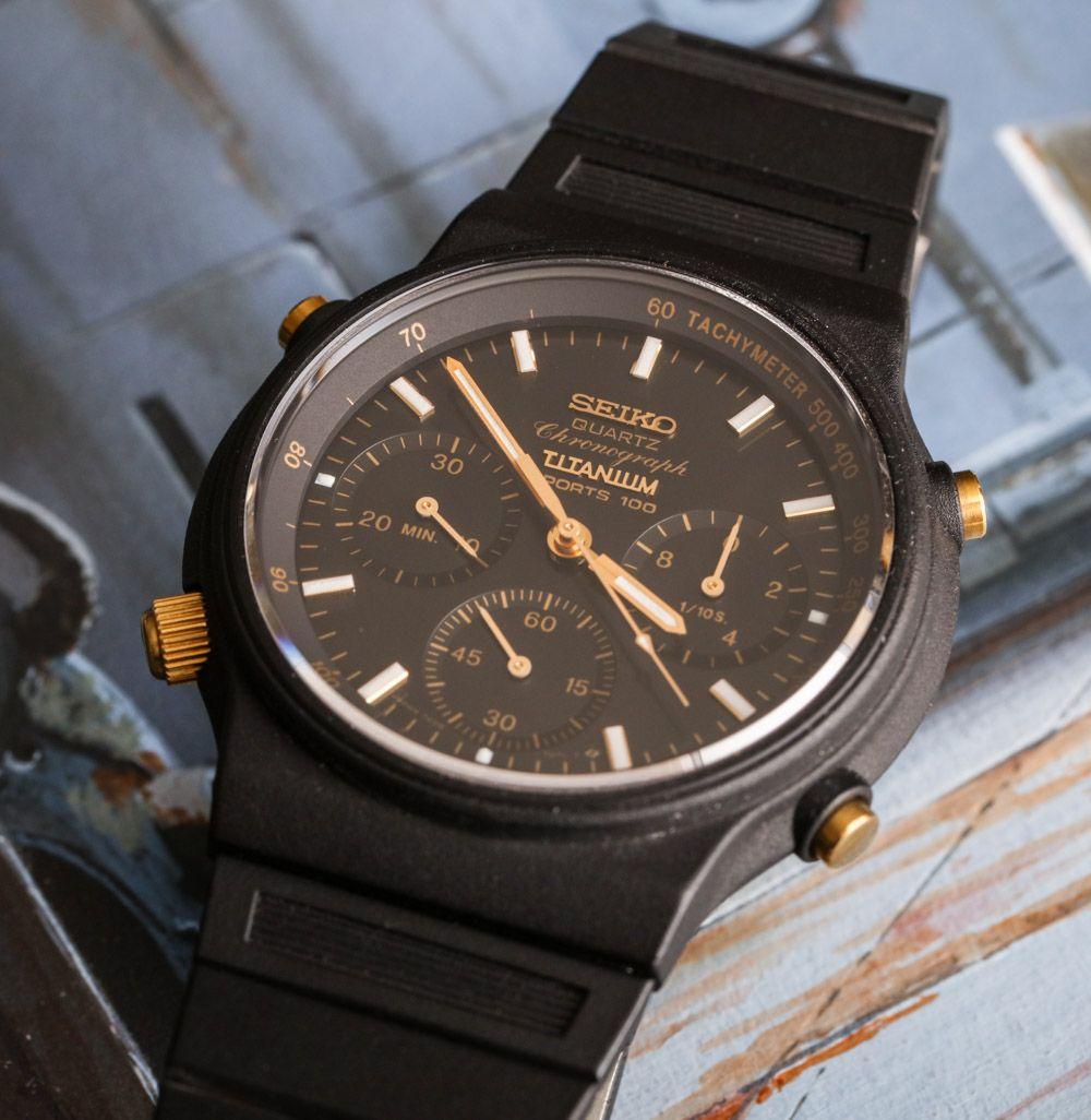 seiko sports 100 7a28 first analog quartz chronograph movement vintage watch hands on alte. Black Bedroom Furniture Sets. Home Design Ideas