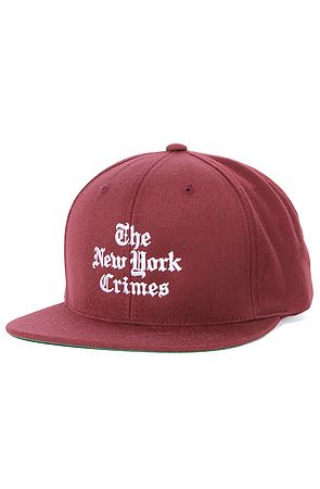 ffae8845790 The New York Crimes Snapback Cap in Maroon by Akomplice use rep code  OLIVE  for 20% off!