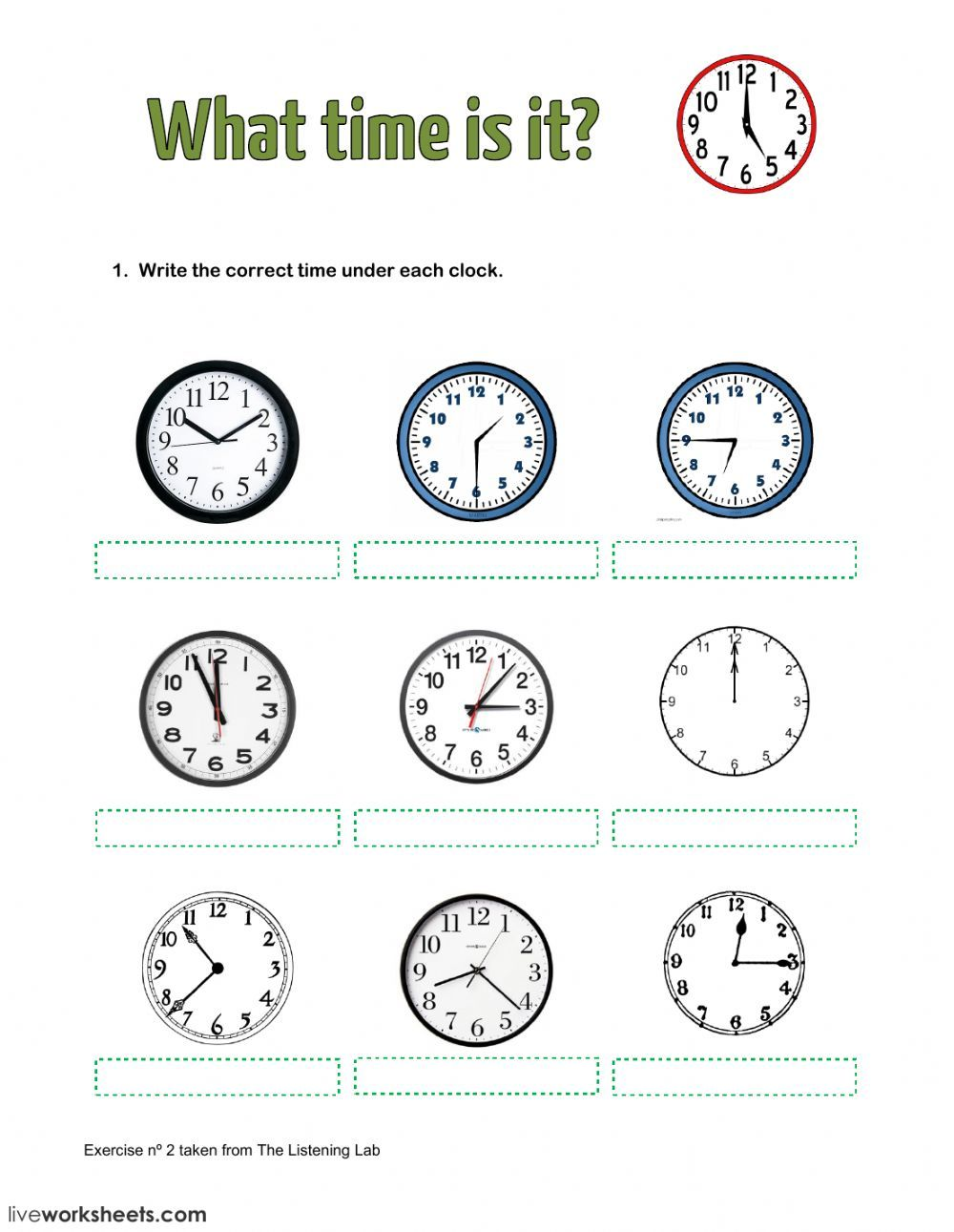 Telling The Time Interactive And Downloadable Worksheet You Can Do The Exercises Online Or Download The Time Worksheets Telling The Time Exercises Worksheets