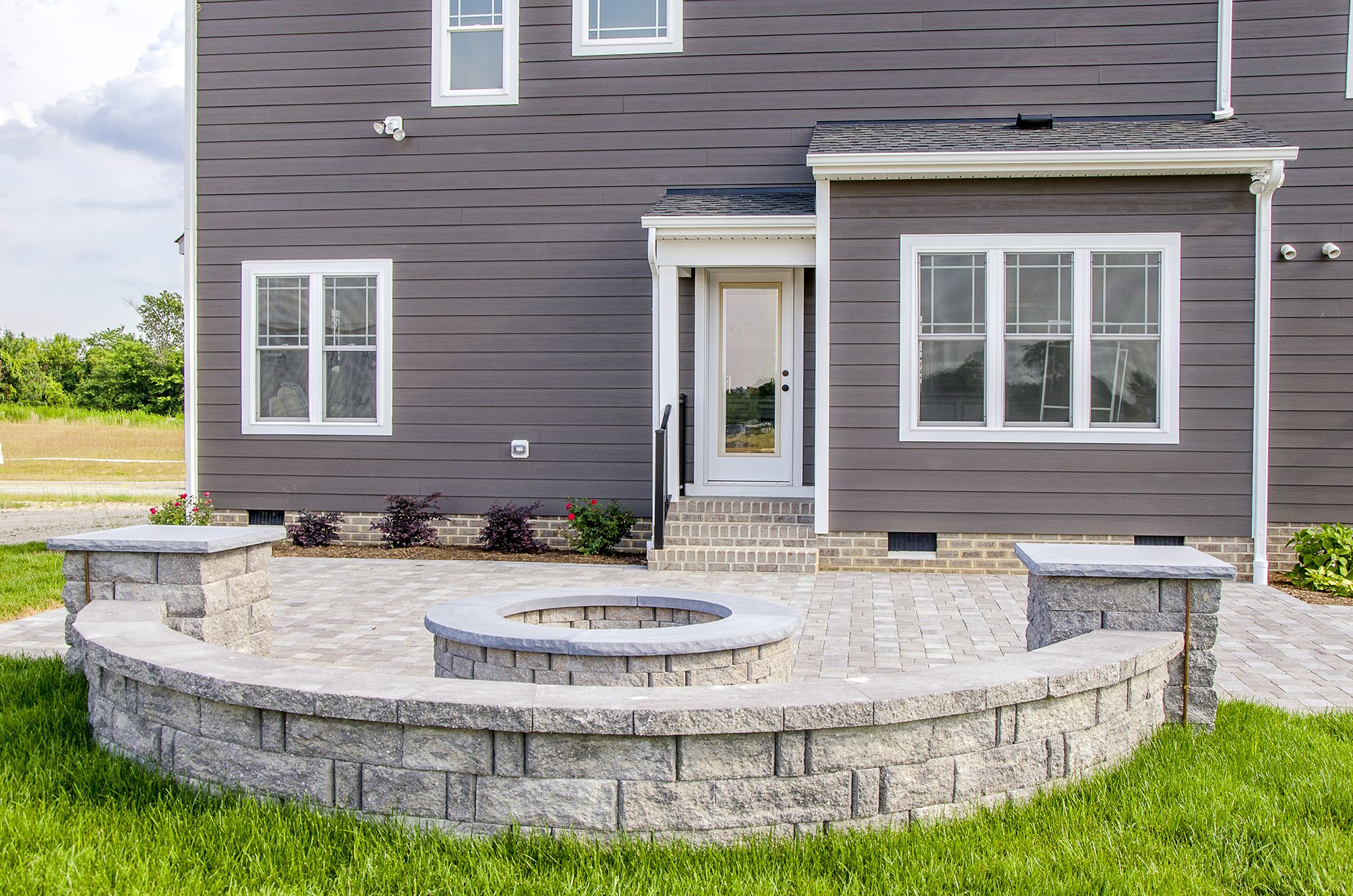 backyard goals this new customhome has craftsman details and a