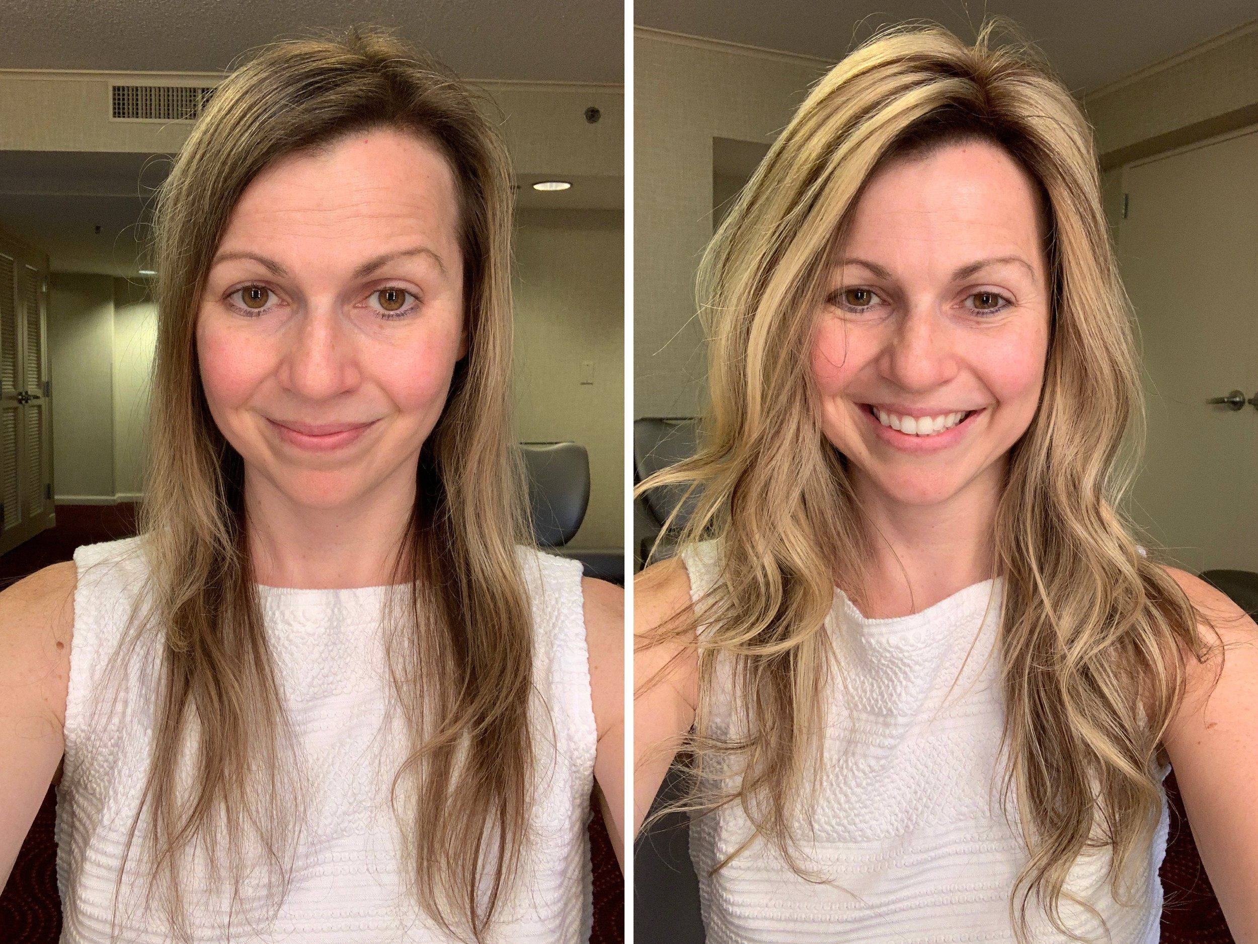 How To Make Thin Hair Look Thicker Thin Hair Styles For Women First Thyme Mom Thin Hair Styles For Women Hairstyles For Thin Hair Extensions For Thin Hair