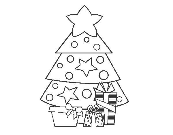 Dibujo de Regalos de Navidad 2 para colorear | Dibujos de Navidad ...