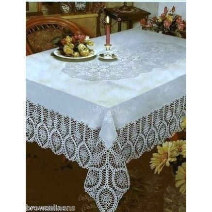Better Home Crochet Lace Vinyl Tablecloth 8 99 Each Vinyl