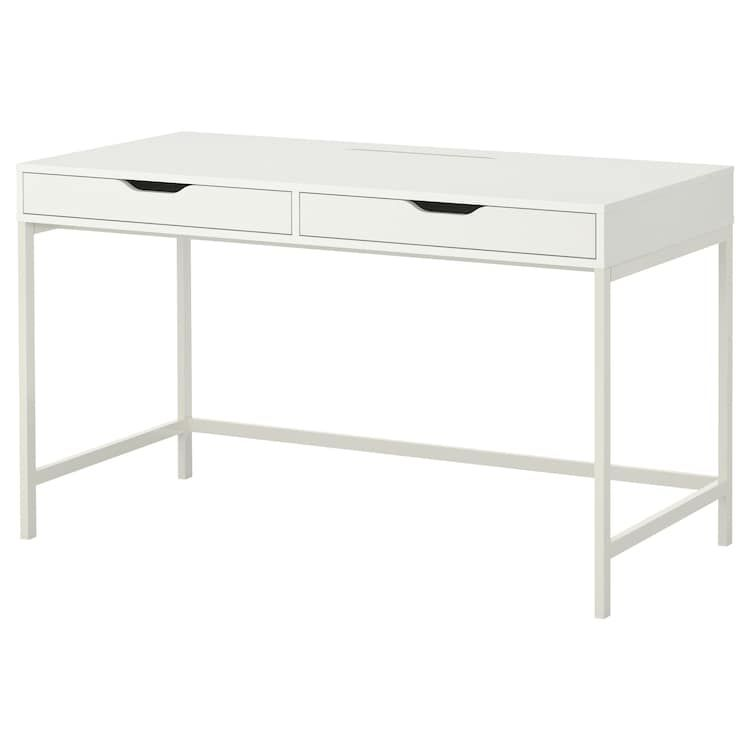 Alex Desk White 51 5 8x23 5 8 Ikea Ikea Alex Desk Alex Desk Desk With Drawers