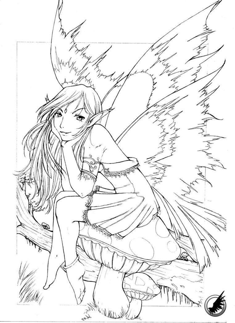 easy mystical coloring pages - photo#9