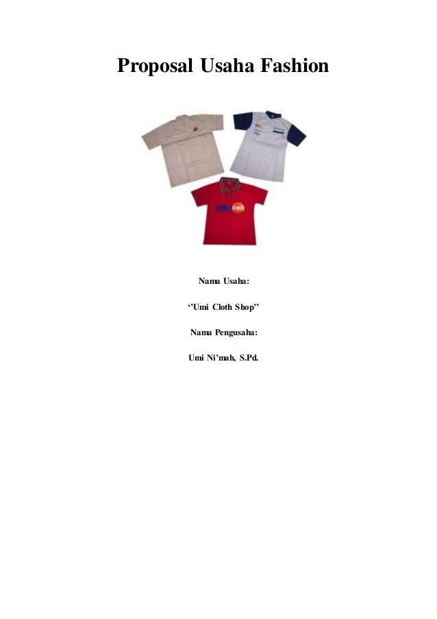 Contoh Proposal Usaha Fashion Proposal Pola Baju Anak Pekalongan