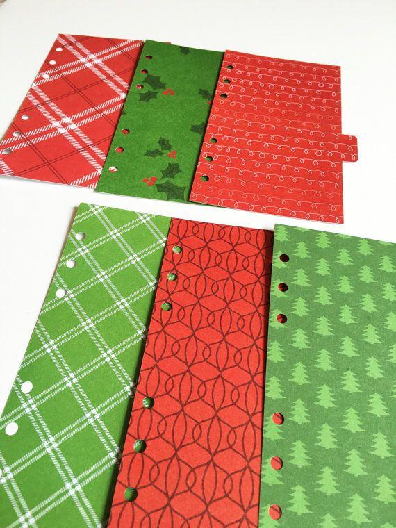 Set of 6 divider set A5 / dividers / christmas by DesignByDenis