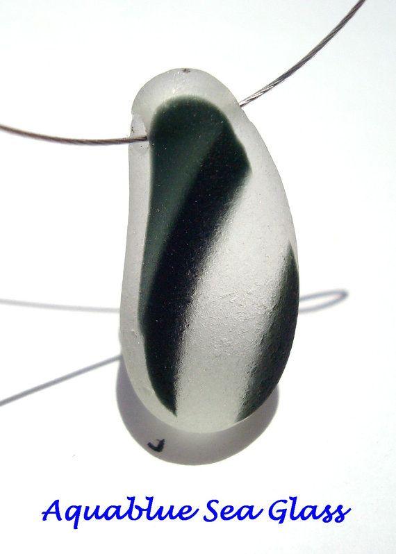 SIDE Drilled  English Multi  Sea Glass Pendant by aquablueseaglass, $14.99