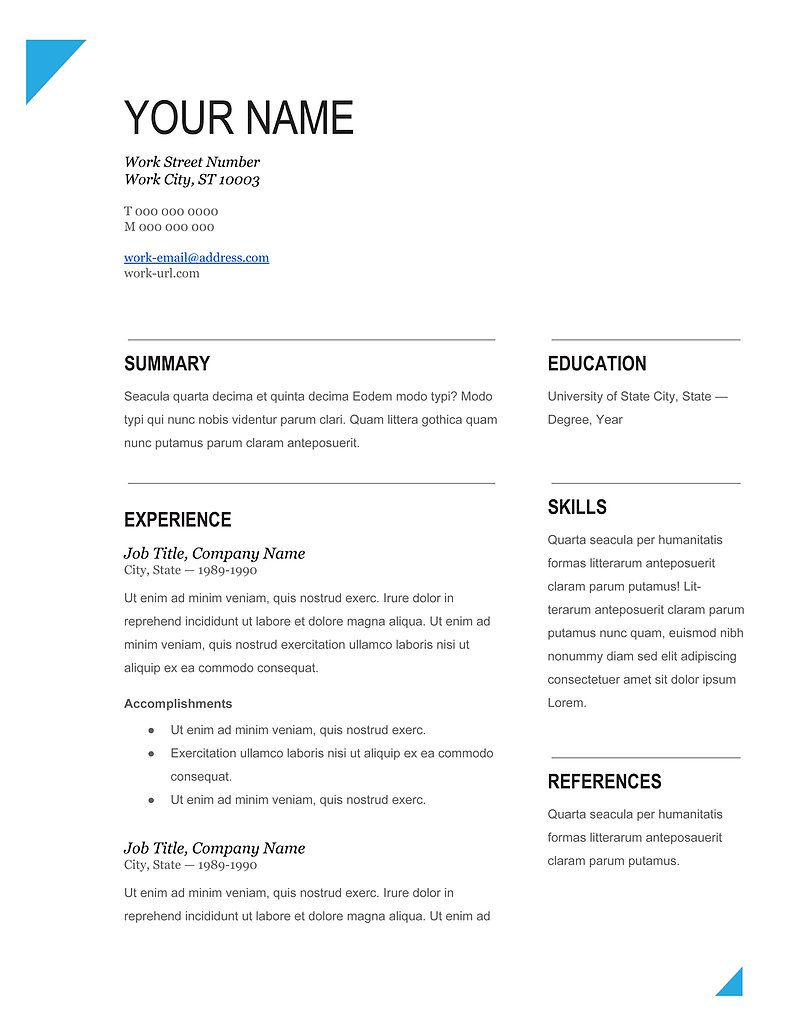 resume template in the philippines Google Search (With