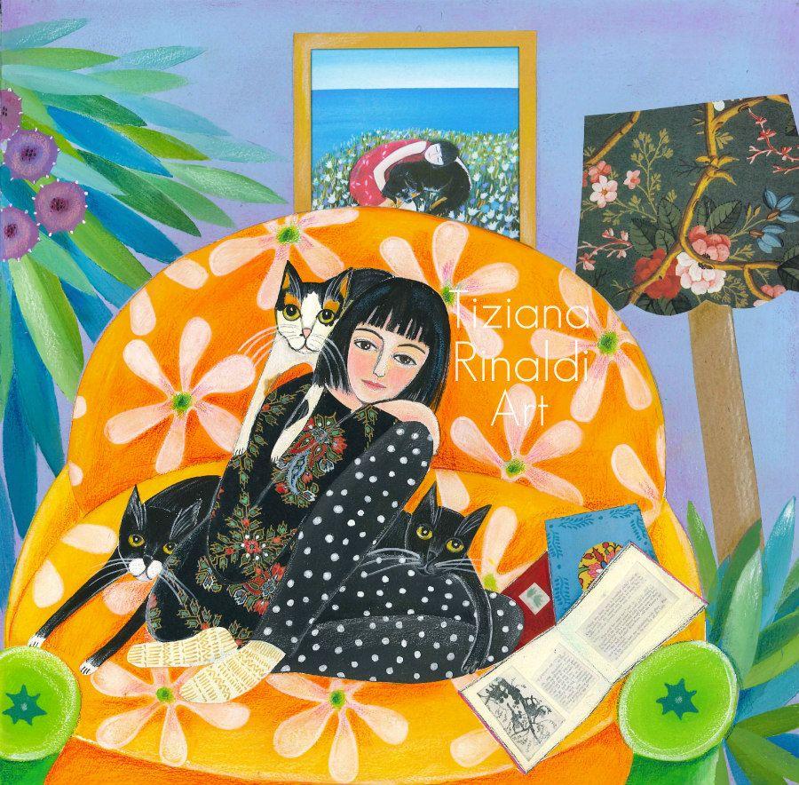 I Nostri Giorni Tiziana Rinaldi Art Art Painting Girlandcats