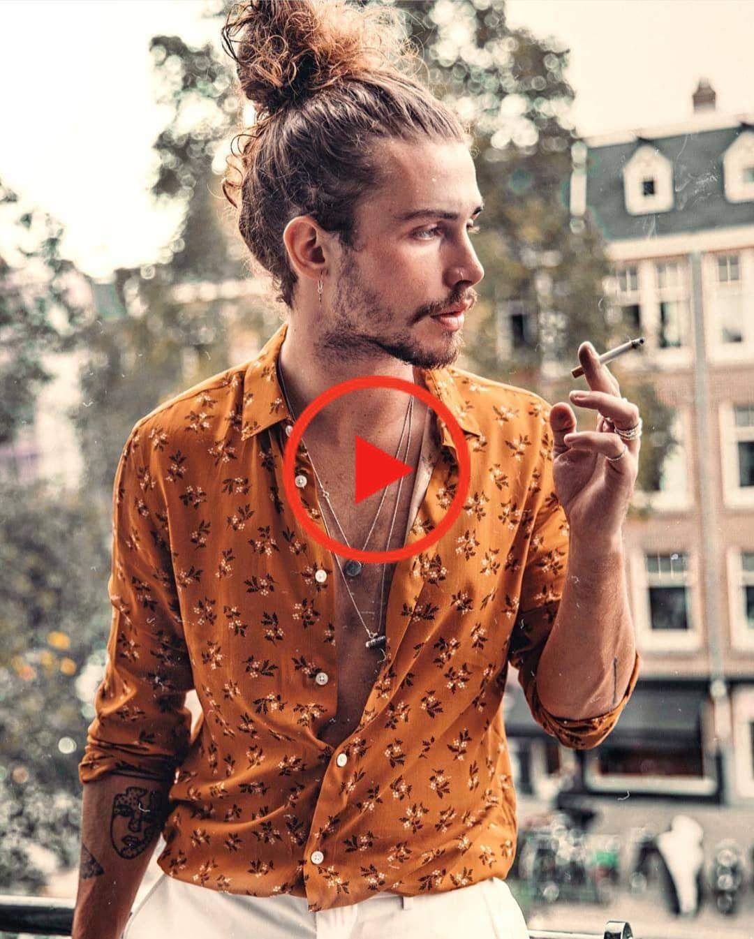 Bet On Male Hairstyle High Bun 2019 In 2020 Boho Style Manner Bohemian Stil Manner Herrenkleidung